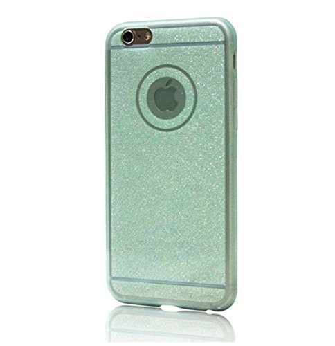 "Coque Bumper Cover iPhone 6 / 6s ( 4,7 pouces ) 4.7"" - Paillette strass glitter bling luxe fete THEcoque DESIGN case - Gris VERT"