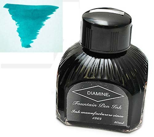 Diamine Refills Steel Blue Bottled Ink 80mL - DM-7011 by Diamine -