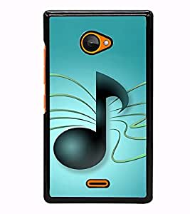 Fuson Designer Back Case Cover for Microsoft Lumia 540 Dual SIM (Lyrics musical word symbol tal)