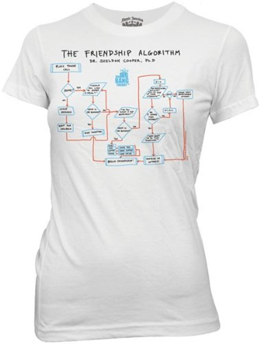 T-shirt Big Bang Theory Algoritmo amicizia Friendship maglia donna (XL)