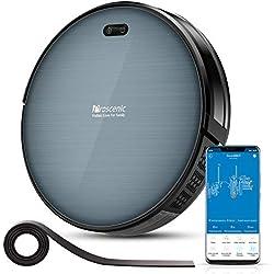 Proscenic Aspirateur Robot 820T, Connecté Wi-Fi et Alexa, Nettoyeur et Laveur 3 en 1, Nettoyage Efficace sur Programmation, Aspiration Puissante Sur Tapis et Sol