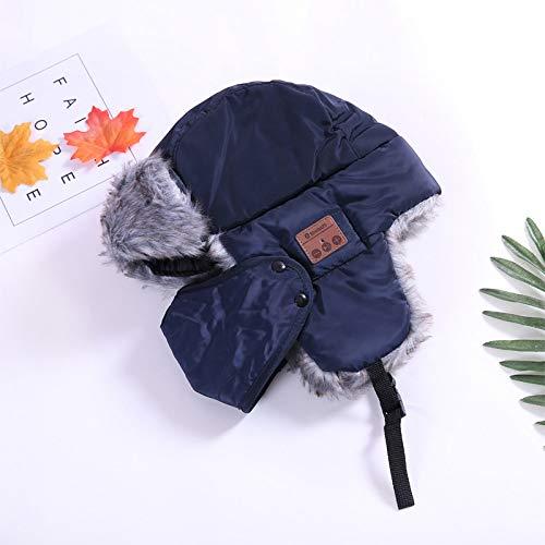 a384022c284 LETAMG Bluetooth Hat Bombardero de Invierno Sombrero de Sombrero Sombreros  para Las Mujeres máscaras Tapa Gruesa