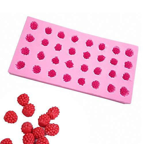 Fewo 32 Mulden 3D Raspberry Silikon Form für Fondant Schokolade Zucker Zucker Kuchen Cupcake Dekoration Werkzeuge