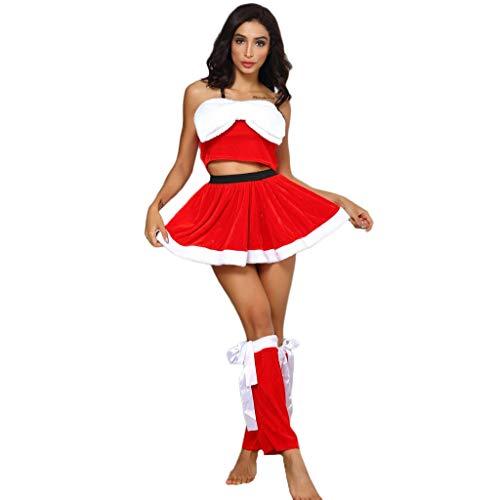 ➤Refill➤Damen Dessous Set Weihnachten Chrismas Kostüm Lingerie Nicolaus Weihnachts Babydoll Nachthemden für Damen Kleider Baby Dolls & Negligees