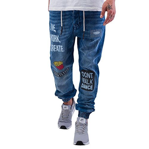 Just Rhyse Homme Jeans / Antifit Live, Work, Create Bleu