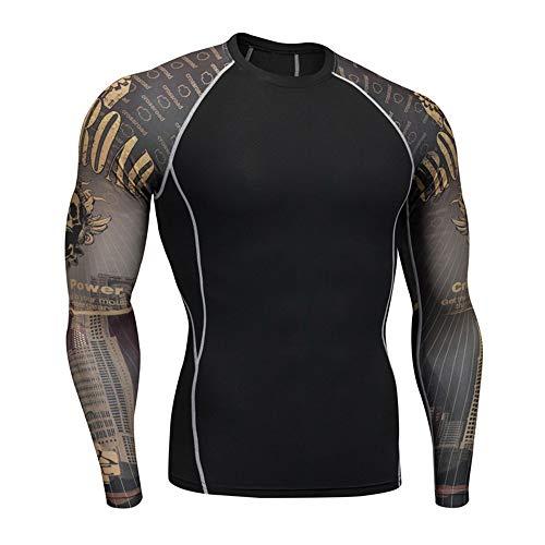 OEAK T-Shirt Homme Sport Compression Manches...