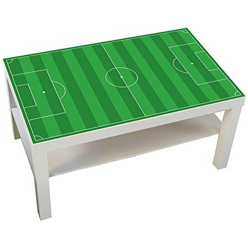 Limmaland Möbelaufkleber Fußballfeld grün - passend für IKEA Lack Couchtisch - klein - DIY Kickertisch - Möbel Nicht inklusive
