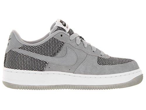 Nike Air Force 1 Premium (GS), Chaussures de Sport-Basketball Garçon Gris / Noir / Blanc (loup gris / Wolf Grey-Black-Wht)