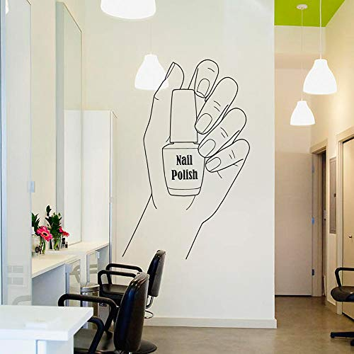 dtattoo Nagelstudio Vinyl Aufkleber Nagel Maniküre Wanddekorkunst Dekoration Idee Pediküre Salon Aufkleber 42 * 66 cm ()
