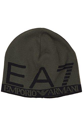 Emporio Armani EA7 cuffia berretto uomo nuova originale train eagle verde EU M 275560 6A393 16444