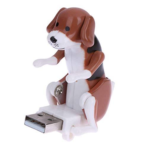 CHOULI Süße PC USB Gadgets Fun Humping Spot Hund Stress Spielzeug für Büroangestellte braun (Rascal Hund Spielzeug)