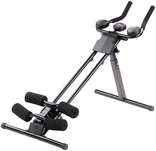 PEARL sports Fitnessgeräte: Ganzkörper-Fitness- & Bauchtrainer HT-200 mit Trainingscomputer (Bauch Beine Po Trainer)