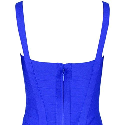HLBandage Women's Spaghetti Strap Midi Bandage Dress Blu