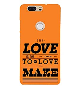 Love is Equal to Make 3D Hard Polycarbonate Designer Back Case Cover for Huawei P8