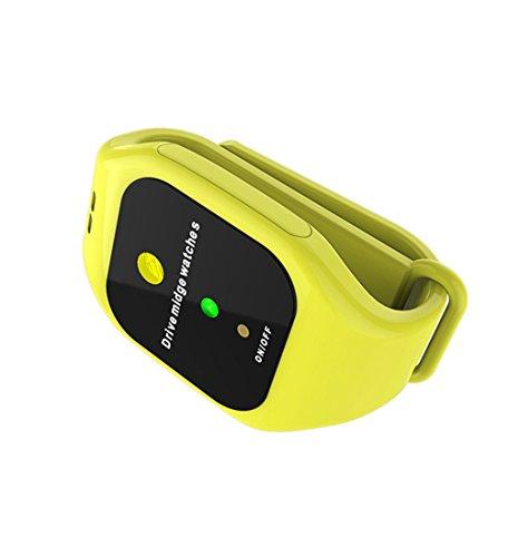 GFYWZ Mückenschutz-Uhr, Intelligentes LED-Elektronisches Ultraschallmoskito-Repeller-Armband-Armband, Wanzen-Abwehr Für Die Nacht, Die Laufendes Radfahrendes Kampierendes Wandern Rüttelt,Yellow