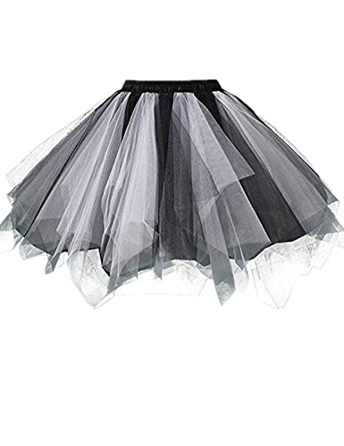 RuiyuhongE Frauen 1950er Jahre Vintage Short Petticoat Ballett Bubble Tutu Rock (S/M, - S Kostüme 1950