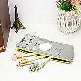 Artistic9 Canvas Pencil Bag, Cute Cat Pencil Holder Large Capacity Cartoon Stationery Bag Makeup Bag Pouch Boys Girls 1PC (E)