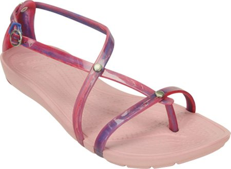 Crocs Women's Really Sexi Marbled Flip Sandal,Blue Multi/Petal Pink,US 4 M  available at amazon for Rs.7008