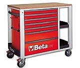 Beta 024002433 Rollwagen, 7 Schubladen, Rot