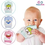 #5: Baby Grow Teething Mitten for Infants Baby Boys & Girls Silicone Teething Mitt Teether Gloves BPA Free Self-Soothing Pain Relief Mitt Teething Toys Ideal Baby Shower Gift 1 Pcs Pack (Pink)
