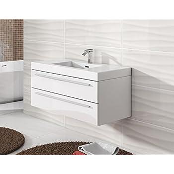 badezimmer badm bel rome 100 cm hochglanz wei