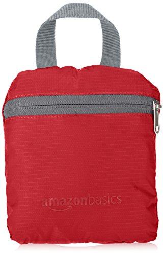 AmazonBasics - Zaino ultra leggero pieghevole Rosso