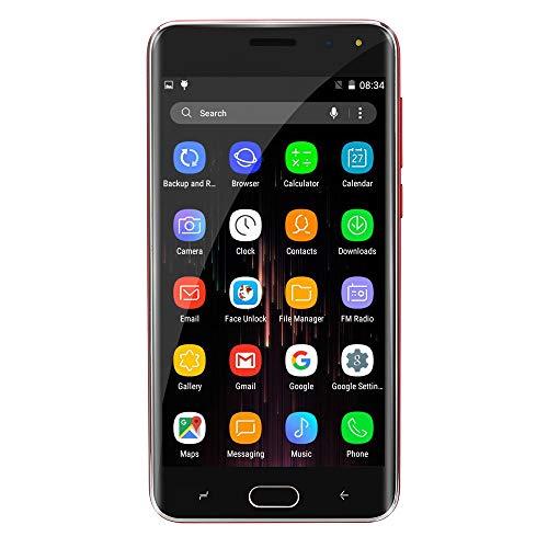 Oasics Smartphone, Neue Art und Weise 5,0 Zoll Doppel-HDCamera Smartphone Android IPS-GANZER Bildschirm GSM/WCDMA 4GB Touch Screen WiFi Bluetooth GPS 3G Anruf-Handy (Schwarz)