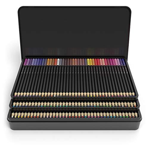 """Castle Art Supplies, Set mit 120 Buntstiften für Künstler mit Mine der \""""Soft Series\"""" für professionelles Schichten, Mischen und Schattieren von Farbtönen; perfekt für Malbücher und Schule"""