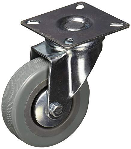 uxcell a11050400ux0204Caster Rad Racks Drehgelenk Square Top Plate 7,6cm Gummi Rad Caster -