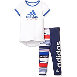 adidas Baby Mini Me Sport ID Girls Set Trikot + Tight