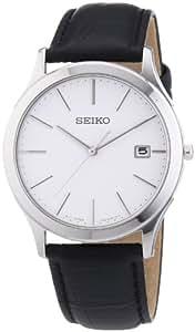 Seiko - SGEE07P1 - Montre Homme - Quartz Analogique - Bracelet Cuir Noir