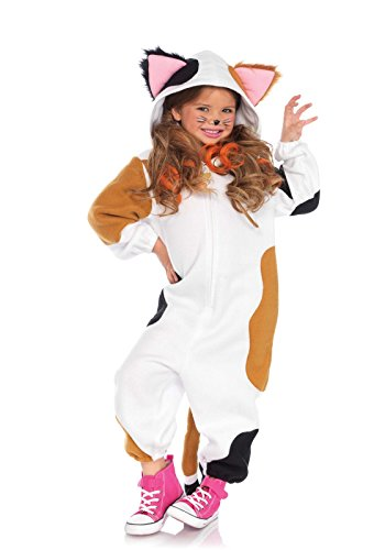 Leg Avenue C49108 - Kids Cozy Calico Cat Onesie Kinderkostüm, M/L (128-134) ()