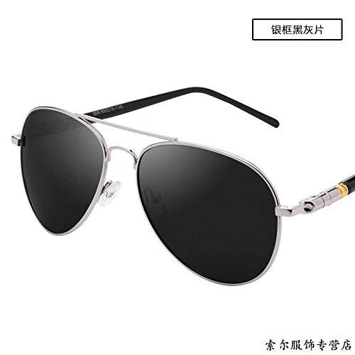 Junge Menschen mit trendigen Sonnenbrillen polarisierten Sonnenbrillen Männer Brillen fahren fahren Fahrer Sonnenbrillen Männer Augen Flut SN4256 Silberrahmen eisblau Tabletten (verstärktes polarisie