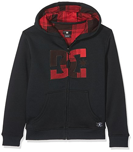 DC Shoes Hook Up Jungen Sweatshirt mit Kapuze XL Chili Pepper/Plaid 1 (Dc Kapuzen-pullover)