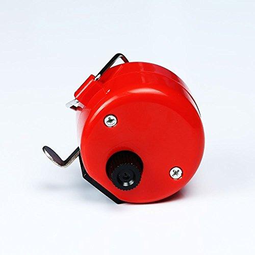 nicedier-tech Handbuch, der Hand Held Tally Zähler 4-stellige Mechanische Palm Clicker Zähler für Sport Cook Standard rot