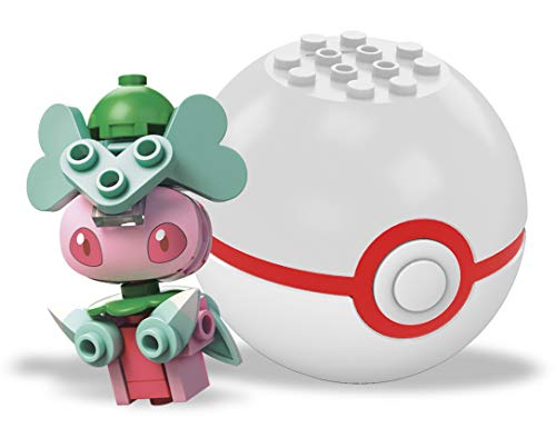 Mattel Mega Construx Pokemon Poke Ball Fomantis Building Construction Figures