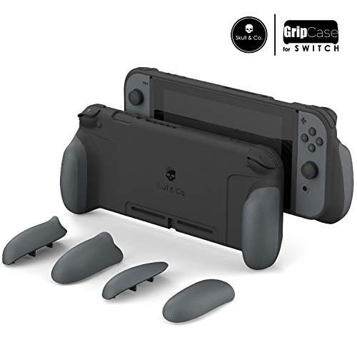 Skull & Co. GripCase Schutzhülle mit austauschbaren Griffen, für Nintendo Switch GC-Gray GripCase ONLY