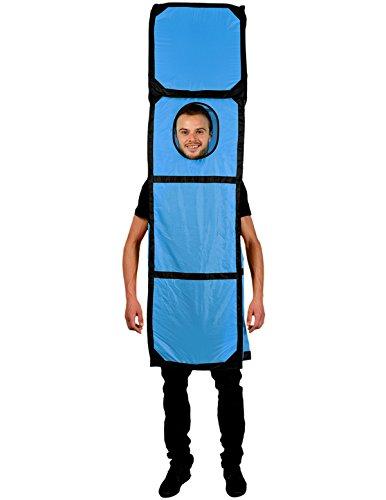 Morphsuits - Costume da tetris per adulti, colore: Blu, taglia unica