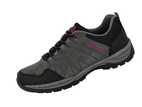 Bruetting Damen Walker Walkingschuhe, Grau (Grau/Schwarz/Pink Grau/Schwarz/Pink), 39 EU