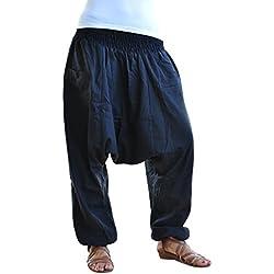 virblatt Pantalones cagados Color único Talla única con Entrepierna Profunda Unisex S – L Pantalones Harem para el Verano con Bolsillos con Cremallera – Unüberlegt bl