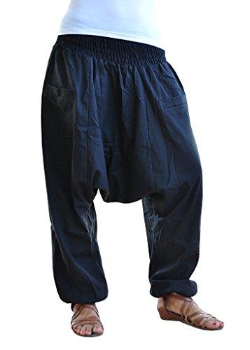 virblatt pantalones cagados color único talla única con entrepierna  profunda Unisex S – L pantalones harem c7a00e365327
