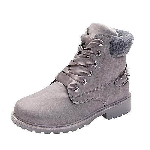 dac1396a303 Uirend Zapatos Mujer Invierno Casual - Botas de Nieve Cómodas y calentitas  Desert Boot Cómodo Cuero