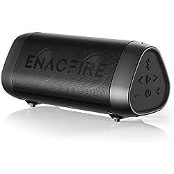 Bluetooth Speaker, ENACFIRE SoundBar Portable Wireless Speakers 25-Hour Playtime Crystal Clear Stereo Sound Enhanced Bass IPX7 Waterproof Speaker with Built-in Microphone