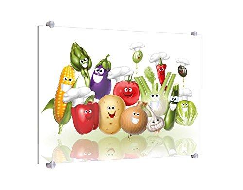 Spritzschutz Lachendes Gemüse B x H: 60cm x 40cm (erhältlich in 2 Größen)