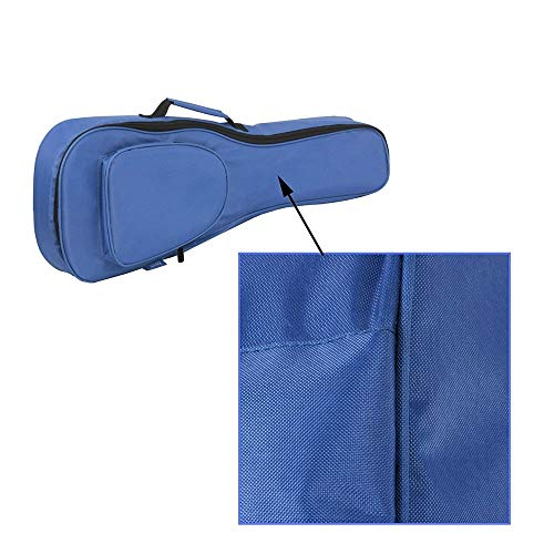 Hochwertige Ukulele-Tasche stoßfest gepolstertes Design mit verstellbaren Schultergurten und einem Tragegriff für 26'Tenor-Ukulele (Farbe: Blau)