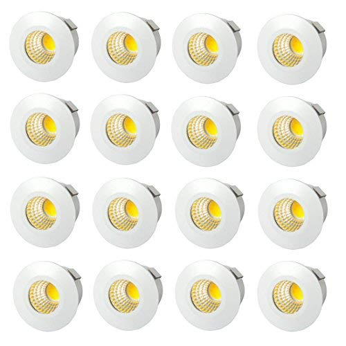 E-ware LED 1W Round Panel Ceiling Light, Color of LED WamWhite (Pack of 16)
