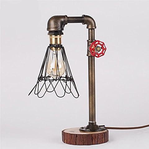 Desk Lamp Vintage Creative Indoor Plumbing Dimmer Table Iamp , b