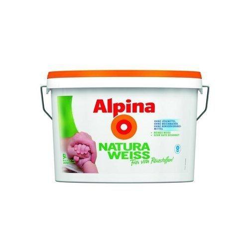 Alpina NaturaWeiss, Wandfarbe weiß matt 5 L., für Allergiker geeignet