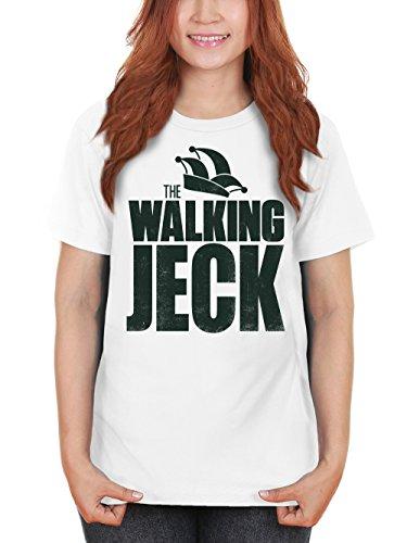 clothinx Damen T-Shirt Karneval The Walking Jeck Weiß