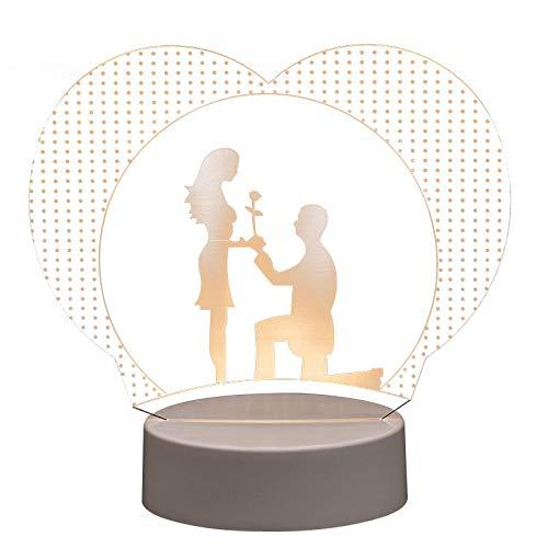 Nachtlichter Schlummerleuchten Innenbeleuchtung Nacht Nachtlicht Einfacher Vorschlag 3D Nachtlicht Urlaubsgeschenk Bett Kopf Mit Mehreren Schlafzimmern Usb